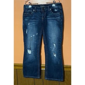 Tyler Distressed Cropped Jeans
